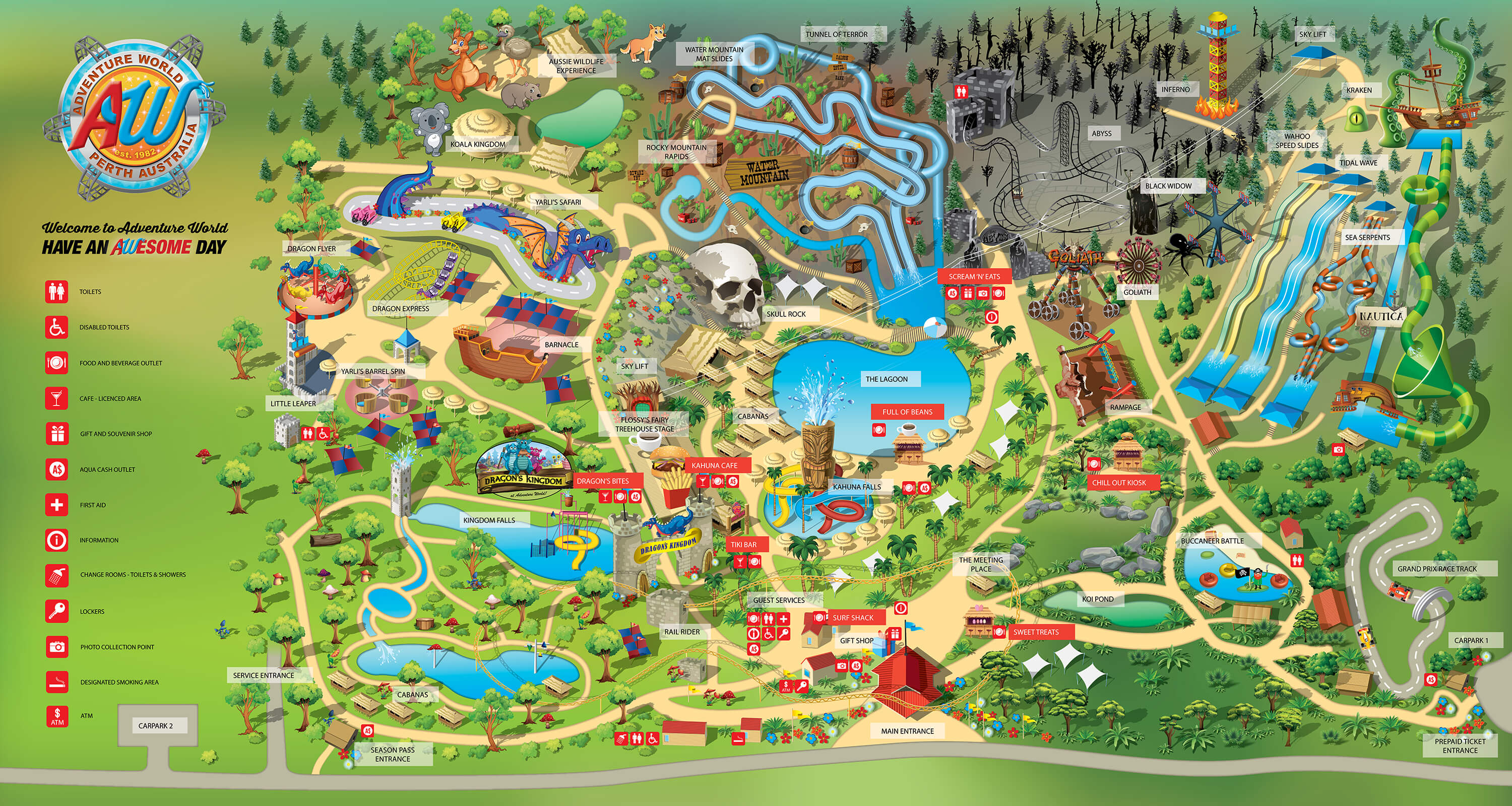 Adventure World Map Adventure World - World mapp